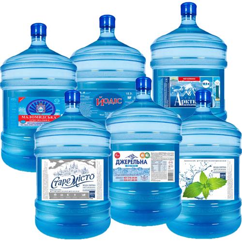 Вода 18.9л в бутылях