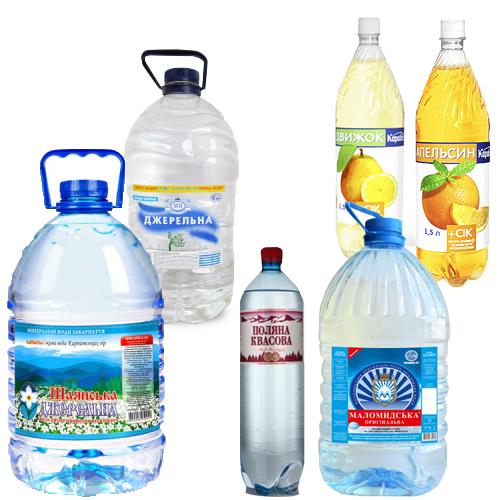 Вода и напитки 0,5-10л