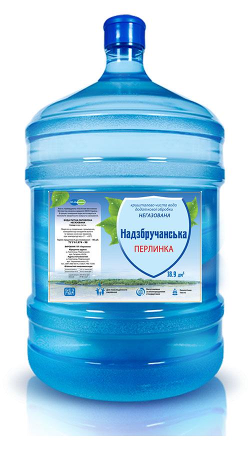 вода «Надзбручанська» 18,9 л бутилированная