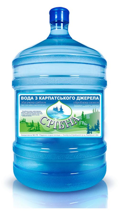 вода «Срібна» 18,9л бутилированная
